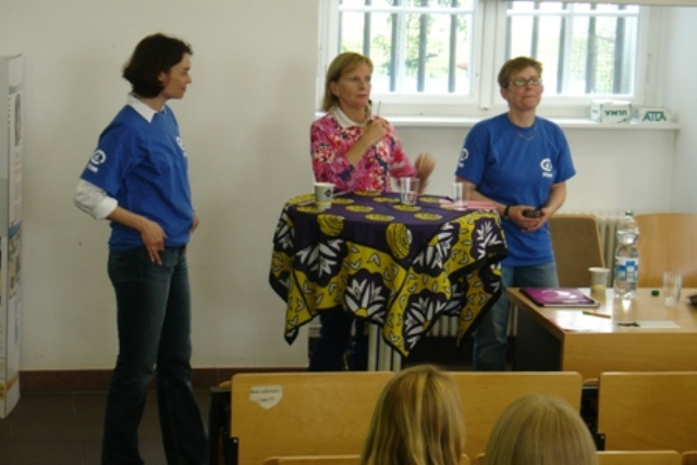 Anja Wetzel, Marianne Raven, Claudia Spiegel (v.l.n.r.)